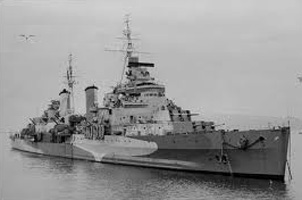 Image of British cruiser Southampton Jan 1941